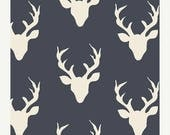 ON SALE Buck Forest Twilight print, Hellow Bear Collection, Cotton Fabric, Quilting Weight textile, Art Gallery Designer Cotton
