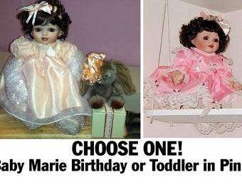 Baby Marie Osmond Toddler Porcelain Collectible SALE Choose Birthday or Original