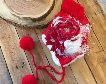 Cozette Couture Red Christmas Beanie