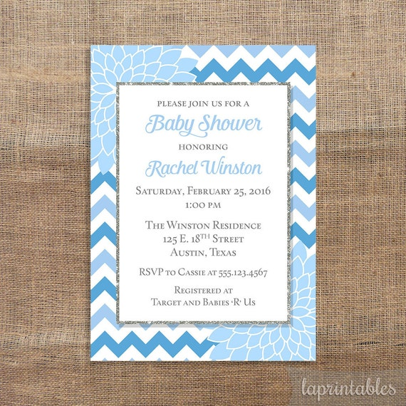 Mums Baby Shower: Baby Shower Invitation Light Blue Mums Baby Shower By