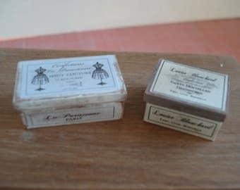 Miniature wooden vintage boxes