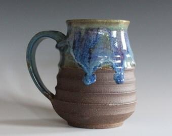 Pottery Coffee Mug, 17 oz, handmade ceramic cup, handthrown mug, stoneware mug, pottery mug, unique coffee mug, ceramics and pottery