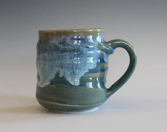 Pottery Mug, 8 oz, pottery mug, unique coffee mug, handmade ceramic cup, tea cup, coffee cup, handthrown mug, stoneware mug