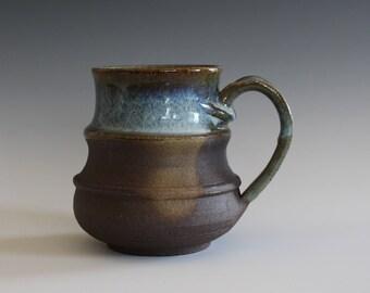 Pottery Mug, 17 oz, unique coffee mug, handmade ceramic cup, handthrown mug, stoneware mug, wheel thrown pottery mug, ceramics