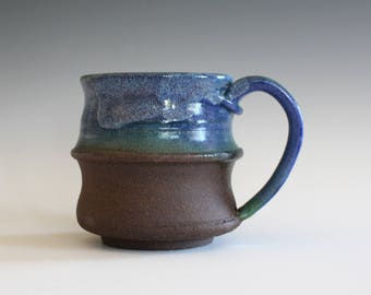 Stoneware Coffee Mug, 13 oz, beer stein, handmade ceramic cup, handthrown mug, unique coffee mug, ceramics and pottery