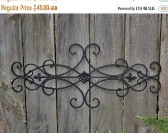 MEGA SALE Wrought Iron Wall Deco / Fleur de Lis / Shabby Chic Decor / Bedroom Wall Decor / Kitchen Decor