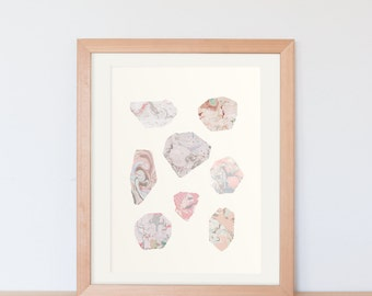 marbling minerals / rocks / poster / A3 / A4 / abstract