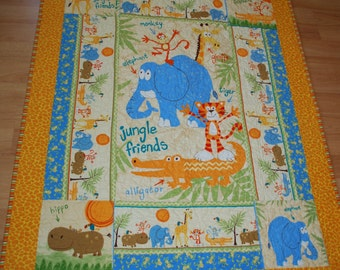Jungle Baby Quilt in Flannelette
