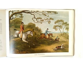 Vintage 1960s Pageantry of Sports Hardcover Book ... Full Color British Hunting, Boating, Sailing Prints