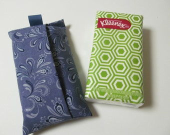 Tissue Case/Blue Paisley