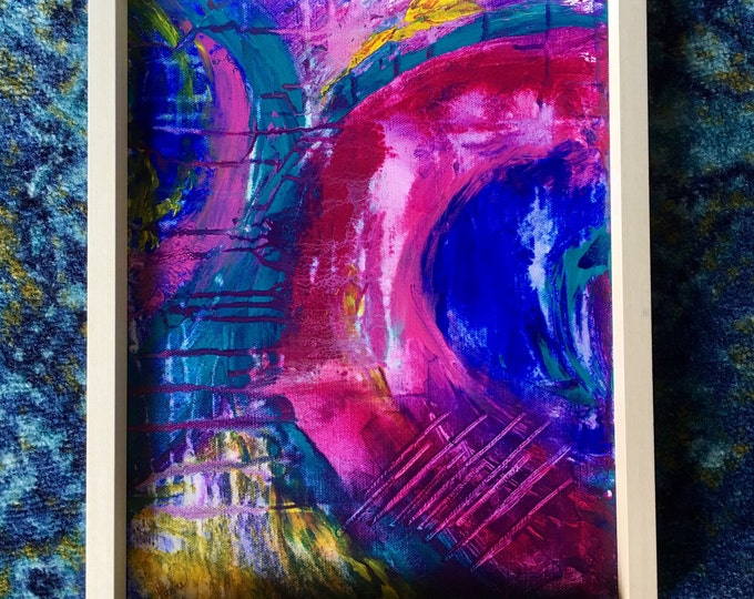 Original Acrylic Abstract Painting titled, Shelley