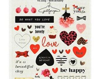 Love Heart Scrapbooking Stickers Die Cut Stickers Paper Deco Sticker Stamp