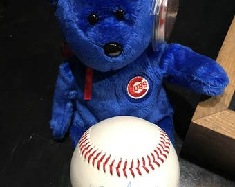 Ty Beanie Baby Dusty for the Chicago Cubs with Baseball