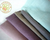 Assorted linen fabric remnants Sale! Thick rustic homespun-like linen flax out cuts for DIY decor; Lovely modern color pure linen fabric mix