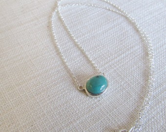 Turquoise pendant sterling silver gemstone necklace turquoise necklace handmade unique jewelry genuine turquoise
