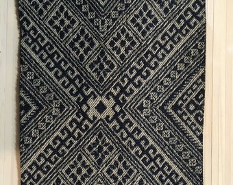 Blue and beige Woven Rug Miniature