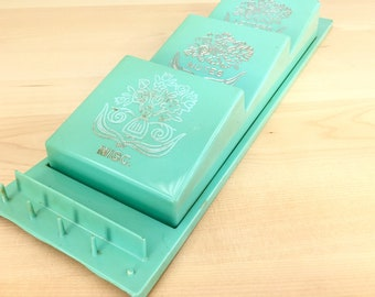 Letters, Notes, Misc Storage, 1950s Turquoise or Mint Green Wall Mounted Letter File Holder, Storage