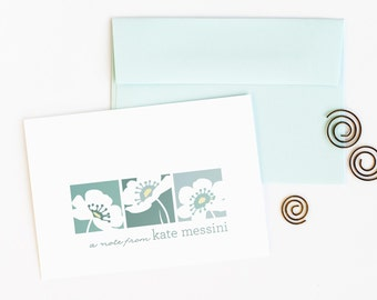 Personalized Stationery Set, Personalized Note Cards, Women's Floral Stationery // FLORAL TRIO