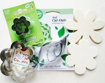 9 Wilton Fondant Cutters, Pastry, Clay Cutters, Leaf and Flower