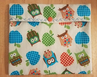 Reusable Sandwich Bag - Give A Hoot