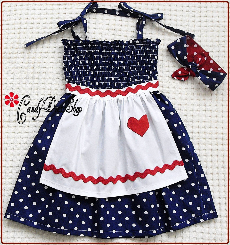 White frilly apron nz - Lucille Ball Inspired Dress For Little Girls Girls Navy Apron Dress Lucille Ball Inspired Dress And Matching Headband Candydressshop