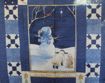 """Daisy Kingdom """"Do You See Quick Quilt"""" Panel"""