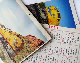Union Pacific Railroad Calendar Photographs 1950s Vintage Rail Travel Train Memorabilia 32 Pictures