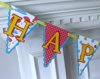Birthday Banner, 1st Birthday Banner, Birthday banner with Ducks, Spring Showers Birthday Banner