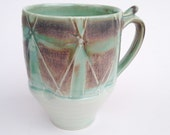 Porcelain Cup with Thumbrest and Flower pattern (CF2)
