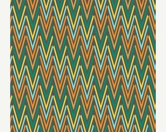 40% OFF SALE - Weaving Verde  (RHA-509) - Rhapsodia - Pat Bravo for Art Gallery Fabrics - By the Yard