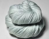 Fading icy mist OOAK - Merino/Silk/Cashmere Fine Lace Yarn - LSOH