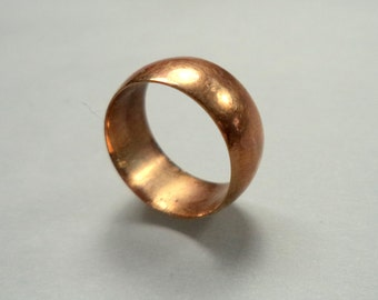 Antique Victorian 10K Rose Gold Baby Ring Cigar Band