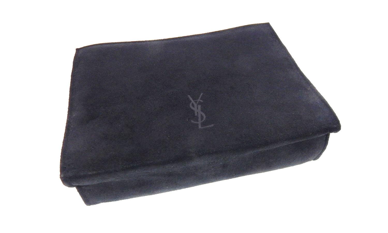 Vintage Ysl Black Suede Clutch Bag Or Pochette