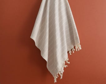 SALE 70 OFF/ Turkish Beach Bath Towel Peshtemal / Beige No1 / Wedding Gift, Spa, Swim, Pool Towels and Pareo