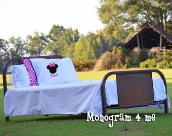 Minnie Mouse Hot Pink Autograph Pillowcase, Mouse Autograph Pillow, Character Pillow