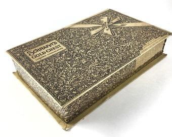vintage Scrafft's Gold Chest cardboard candy box