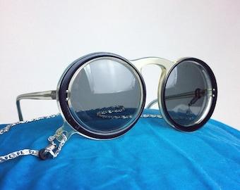 70s Round Boho Chain Strap Sunglasses