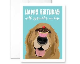 Happy Birthday with sprinkles on top - Birthday Card