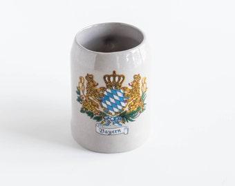 Vintage MINI Beer Stein Bavarian Bayern Bier Mug Octoberfest Collectible Bar Ware Decor Shot Glass
