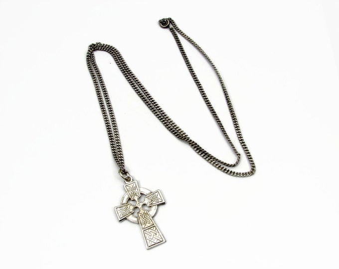 Sterling Silver Celtic Cross Pendant and Chain