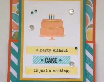 Birthday cake gift card holder card