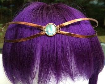 Copper and Paua Circlet Headpiece