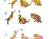 Custom Order -Cat wall decals