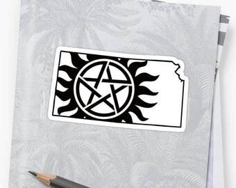 Vinyl Sticker - Kansas Supernatural State