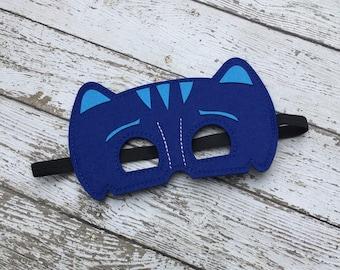 Layered Pj Masks Catboy Felt Mask Catboy Mask Superhero Mask Birthday Mask Birthday Favor Catboy Mask