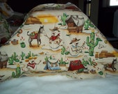 Snow man and cactus fabric, Christmas theme  1/2 Yard  Sonara Snowman by Alexander Henry