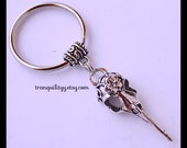 Bird Keyring, Anatomy Vulture Skull Unisex Key Ring , Day of the Dead, Steampunk, Bronze  Vintage Style By: Tranquilityy