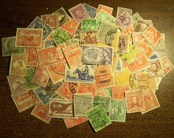 Lot of 100 Different Australian Postage Stamps - Australia - Vintage to Modern