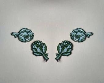 Olive mint Artichoke earrings,brooch or pendant.Food Jewelry.Vegan/Vegetarian gift.Veggie art.Vegetable charm.Urban farming.Organic garden.