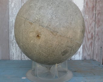 Vintage ,  moon Globe  , Soft gray color